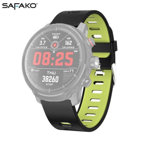 Curea pentru ceas inteligent - Safako SWP50  (Culoare negru- verde)