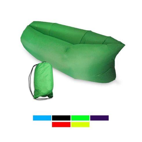 Lazy Bag, saltea gonflabilă fără pompă, verde
