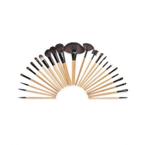 Set de 24 de perii și pensule de machiaj cu suport