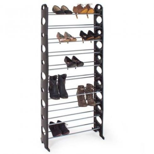 Suport pantofi în 10 rânduri- negru