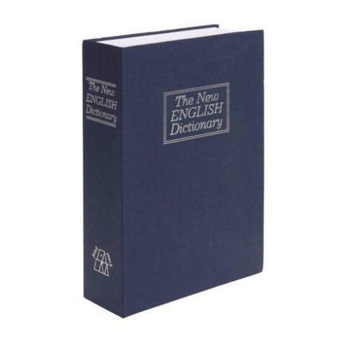 Cutie de securitate în formă de carte, 23 x 16 x 6 cm, albastru, dimensiune mare