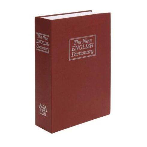 Cutie de securitate în formă de carte, 23 x 16 x 6 cm, roșu, dimensiune mare