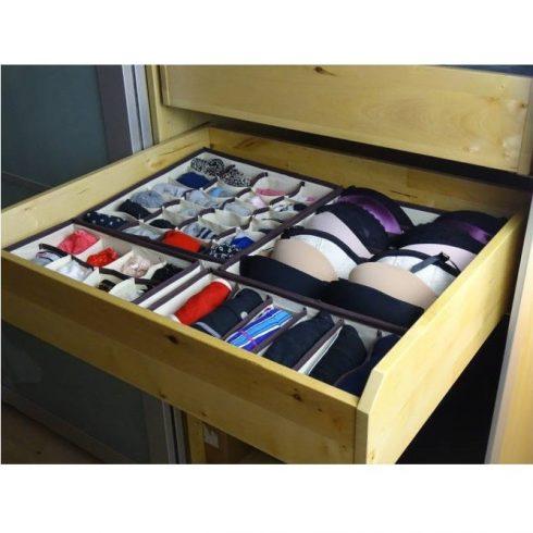 Set cutie organizator lenjerie, din 4 bucăți
