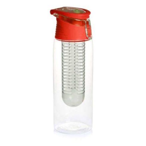 Sticla cu infuzor pentru fructe, 800 ml, capac roșu
