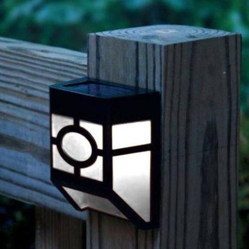 Lampă solară exterioară, neagră