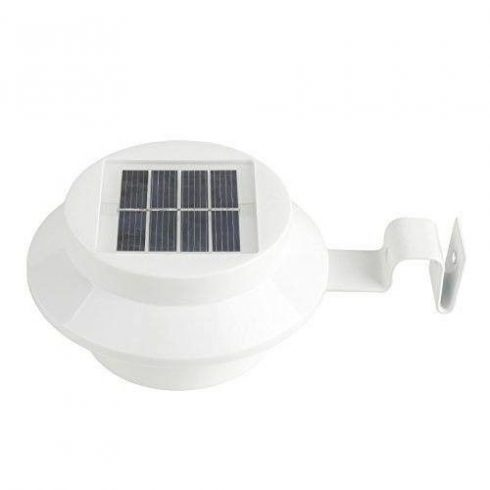 Lampa solară pentru jgheab, alb, 1 pereche
