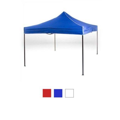Pavilion de grădină pliant, 3x3 m, albastru