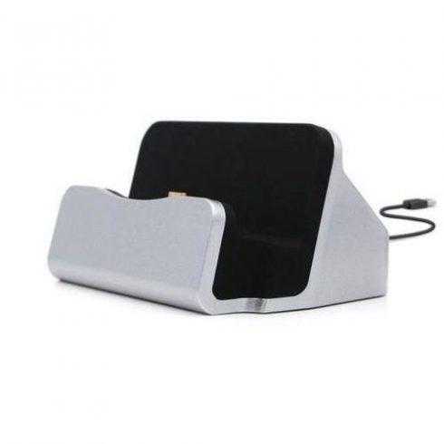 Încărcător de birou micro USB, argintiu