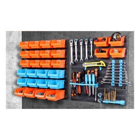 Set organizator de perete pentru scule și șuruburi din 43 buc.