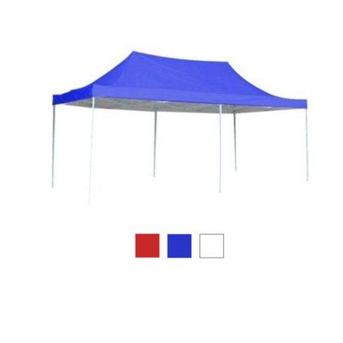 Pavilion pliant 3 x 6 m, albastru