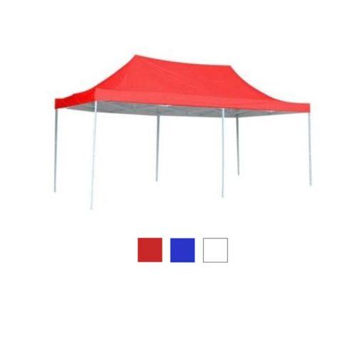Pavilion pliant 3 x 6 m, roșu