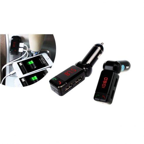 Modulator auto Fm cu încărcător dual și bluetooth