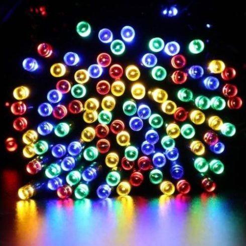 Girlandă luminoasă solară cu 100 LED-uri, 10 m, multicolor