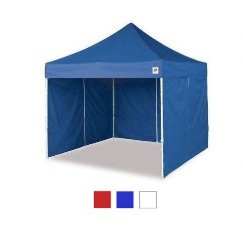 Pavilion 3x3m cu perete lateral - albastru