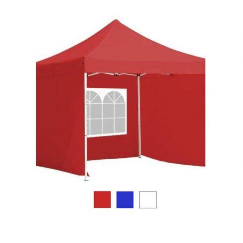 Pavilion 3x3m cu perete lateral - roșu