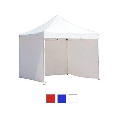 Pavilion 3x3m cu perete lateral - alb