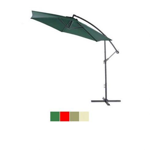 Umbrelă de soare suspendat, diametru 2,7m, verde