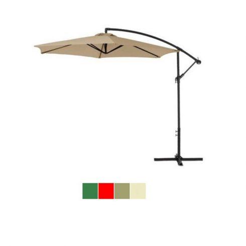 Umbrelă de soare suspendat, diametru 2,7m, kaki