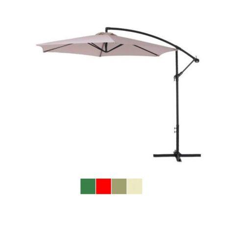 Umbrelă de soare suspendat, diametru 2,7m, crem