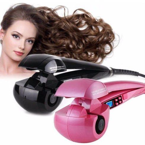 Ondulator de păr complet automat, placat ceramic, cu selector de temperatură