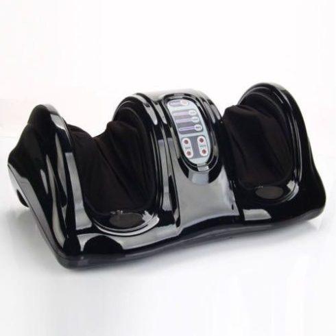 Aparat de masaj picioare cu telecomanda, negru
