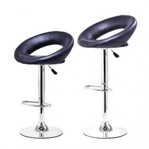 Set 2 scaune de bar, Negru