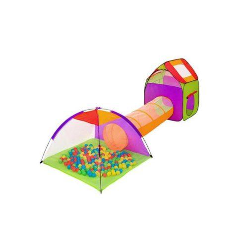 Cort și spațiu de joacă pentru copii, cu 200 buc. bile colorate și geantă de transport cadou