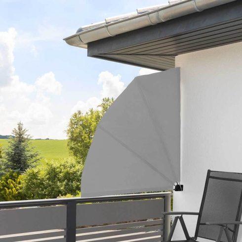 Umbrire pentru balcon în formă de evantai, 140 x 140 cm, Gri
