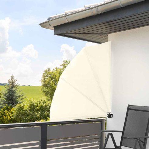 Umbrire pentru balcon în formă de evantai, 140 x 140 cm, Alb
