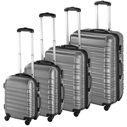 Set de 4 trolere cu carcasa rigidă, gri