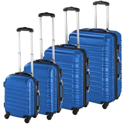Set de 4 trolere cu carcasa rigidă, albastru
