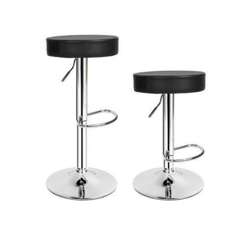 Set 2 scaune de bar, stil clasic, Negru