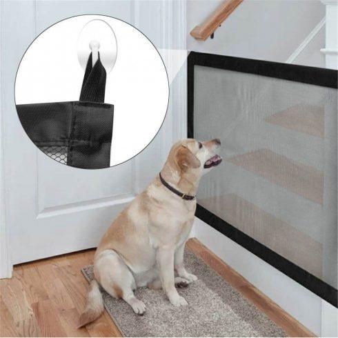 Plasă ușa pentru câini, 115 x 84 cm, Negru