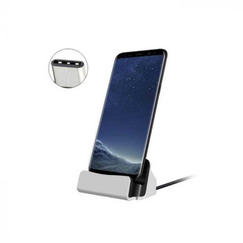 Încărcător de birou cu micro USB, Argintiu