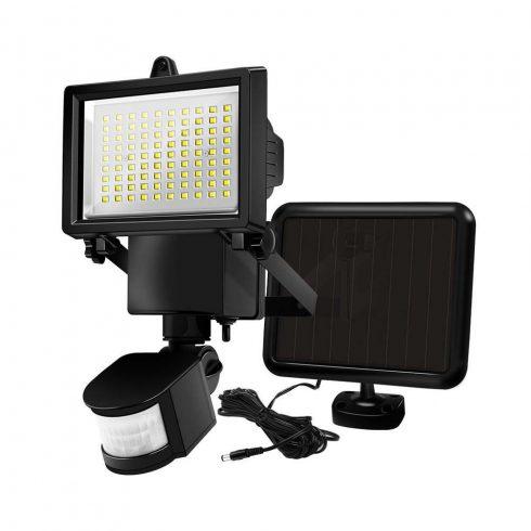 Reflector solar cu senzor de miscare, 60 LED, Negru