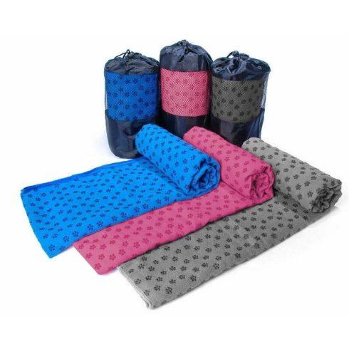 Prosop yoga anti-alunecare, cu geantă cadou, Roz