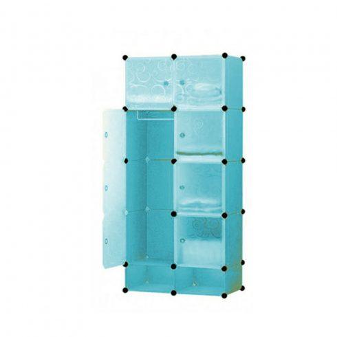 Dulap modular din plastic, un compartiment 35x35x35 cm, Albastru