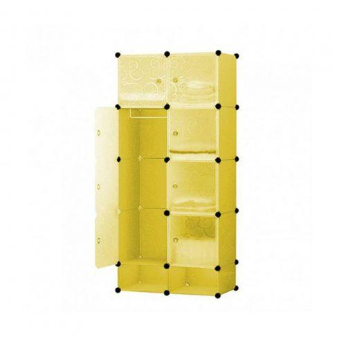 dulap modular plastic, galben lămâie