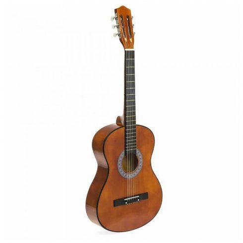 Set chitara acustica pentru incepatori, cu tuner cadou, Maro