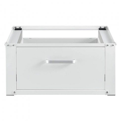 Suport cu sertar pentru mașina de spălat, Alb