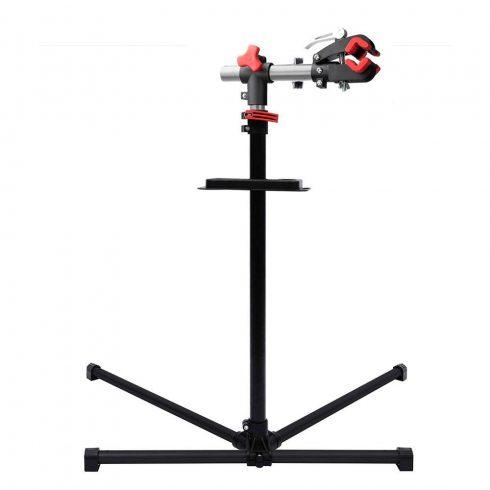 Stand pentru reparații biciclete cu recipient pentru scule cadou