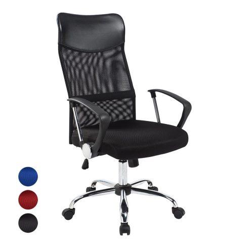 Scaun de birou ergonomic, cu spătar înalt, Negru