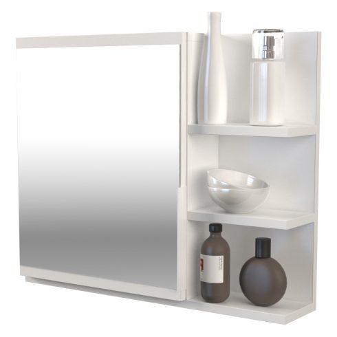 Drohmo Lumo P oglindă baie cu rafturi, alb