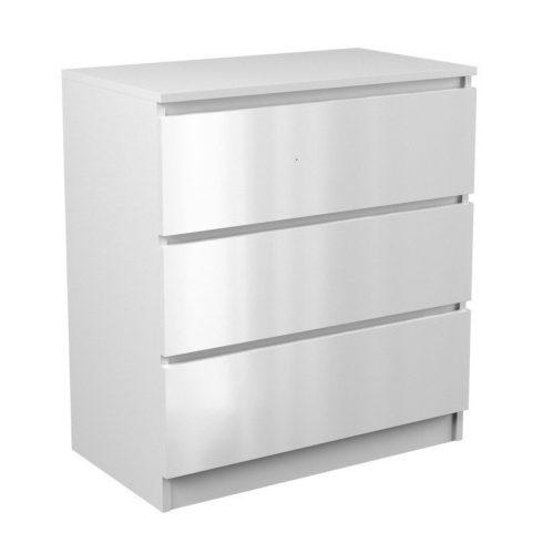Thirassia M3, dulap cu sertare, alb lucios