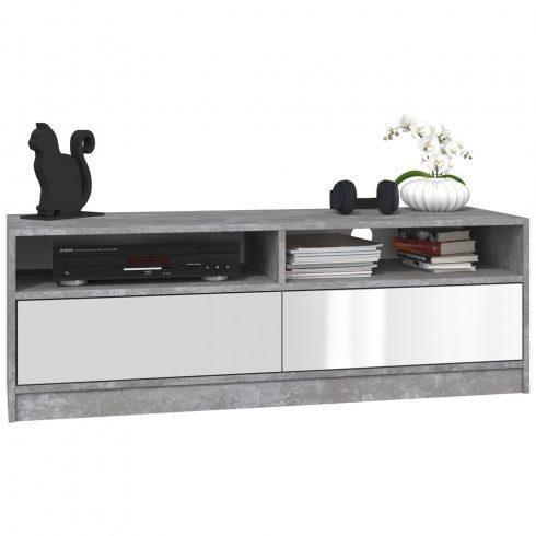 Arosa RTV KARO120 MIX, comoda TV, culoare beton - alb lucios