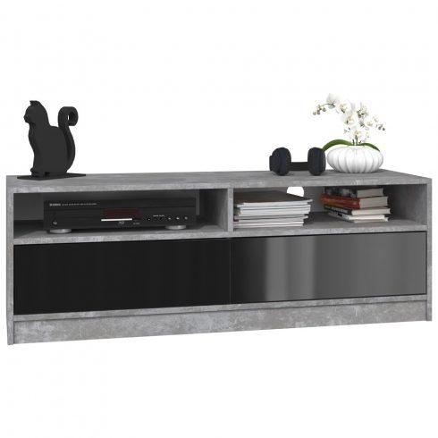Arosa RTV KARO120 MIX, comoda TV, culoare beton - negru lucios