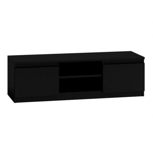Baltrum RTV120, comoda tv stil minimalist lățime 120 cm - negru