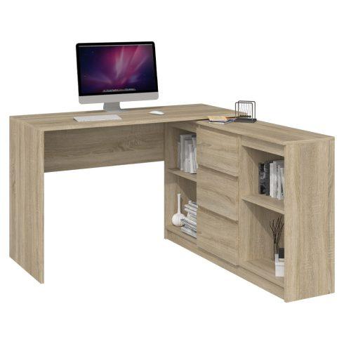 Odell Plus 2D3S, masă birou cu dulap, sonoma