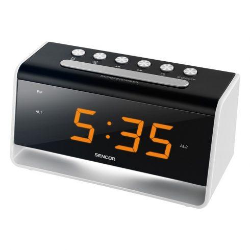 Sencor SDC 4400 W Ceas deşteptător cu lampă de veghe LED