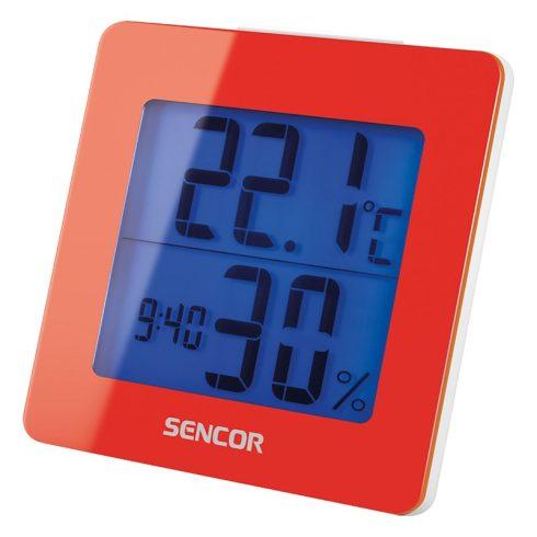 Sencor SWS 1500 RD Termometru cu ceas deșteptător